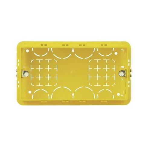 3-Place 4-Place Yellow Recessed Box for BTicino Civil Series