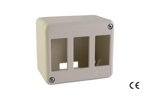 3 Places Mini Trunking Box IP30 BASIC 52367 Maurer