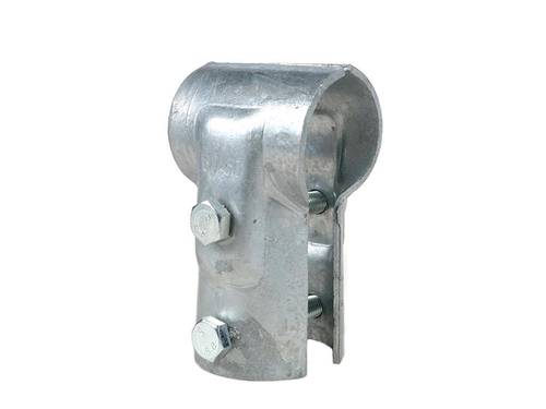 """T-clamp with 2 Bolts for Tubes 2 """"x 2"""""""