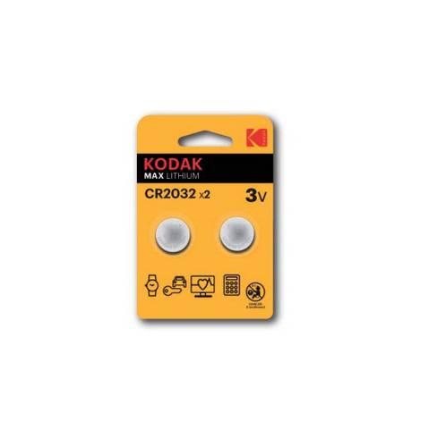 2 x Button Battery 3V CR2032 Lithium Kodak