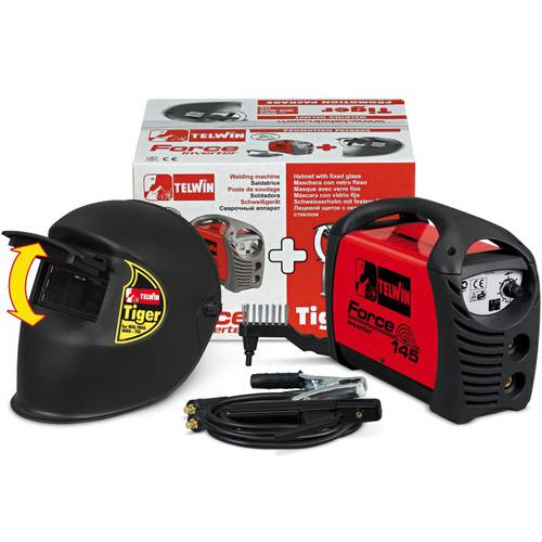Welder electrode Telwin Force 145 + Tiger Mask and Accessories 815862