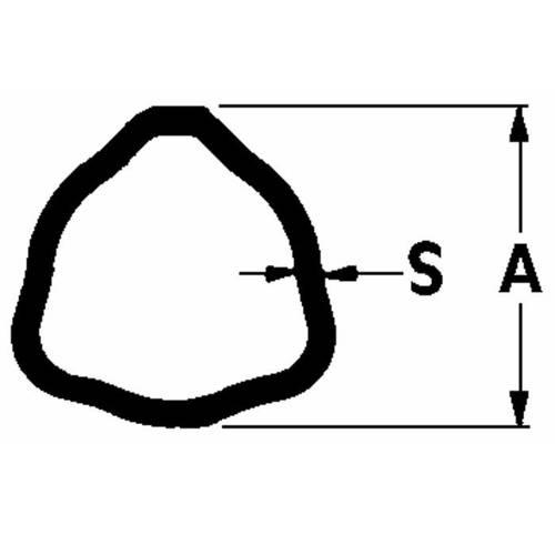 External Cardan Tube Triangular Profile Adapt ByPy