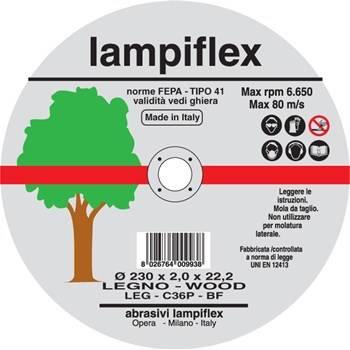 Disc Cutting Wood mm.115x1,6 Lampiflex