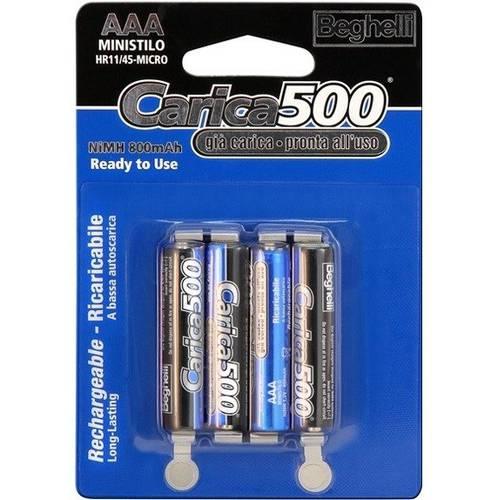 4 AAA batteries Rechargeable Upload 500 Beghelli