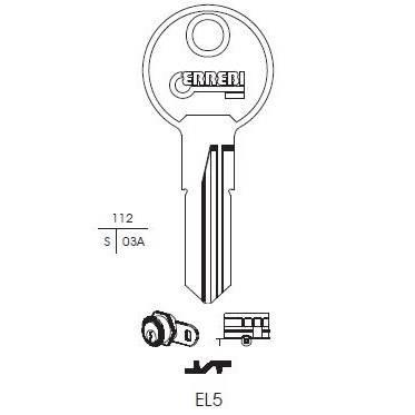 Chiave Euro Locks sister EL5