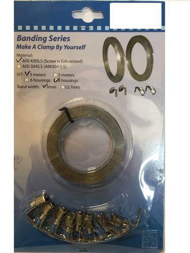 Ribbon Metallic Hose Clamp with Folding Drawer