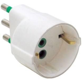 Simple Italian Adapter Plug 2P + E 16A Schuko S17 Fanton 82130