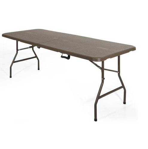 Outdoor Folding Garden Table Brown 180x70x74 cm Verdelook