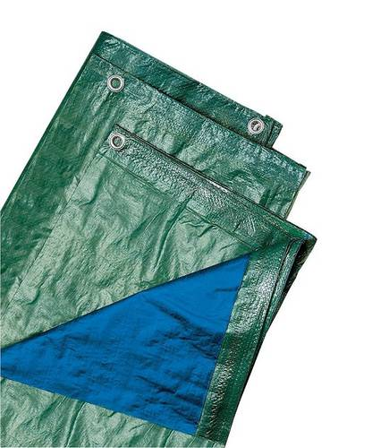 Anti-tear Green Cloth Eyelet in Polyethylene 120 gr / sqm for Covers