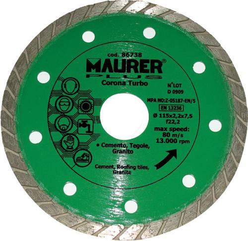 Diamond Wheel Crown Turbo 115mm 086738 Maurer